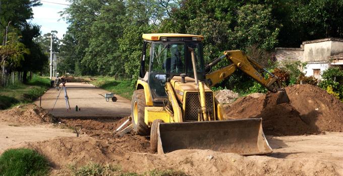 Continúan las obras de calle Belgrano