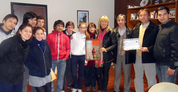 La Intendente recibió a alumnos y directivos del Instituto Ntra. Sra. del Carmen