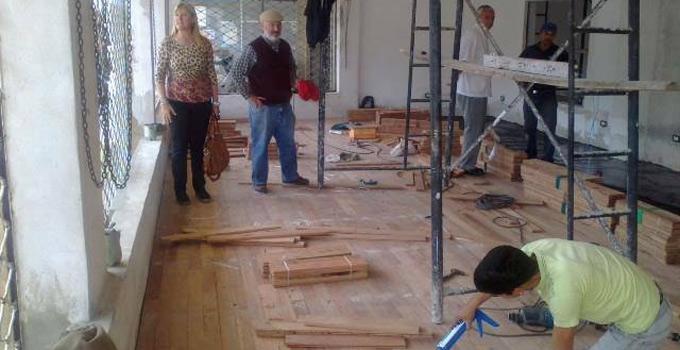 La Intendente Nancy Sand realiza la verificación de la construcción de la Casa de la Cultura