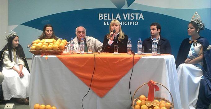 La intendente Nancy Sand hace el lanzamiento de la XI Fiesta Nacional de la Naranja