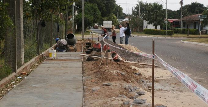 Inicio Obras de veredas en barrio San José Obrero