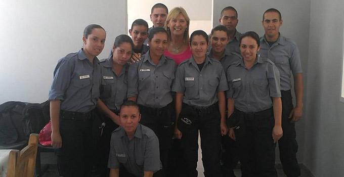 Nancy Sand asistió a la inauguración de la Primera parte de la Comisaría Primera