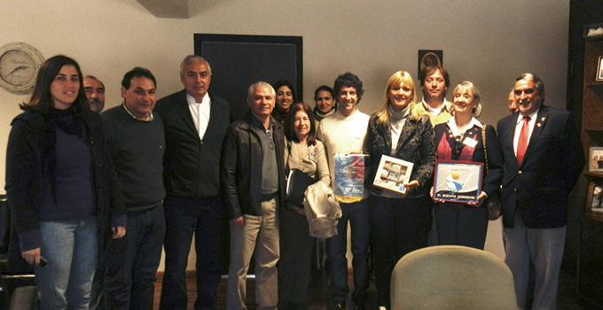 La Gobernadora de Distrito del Rotary visitó a Nancy Sand