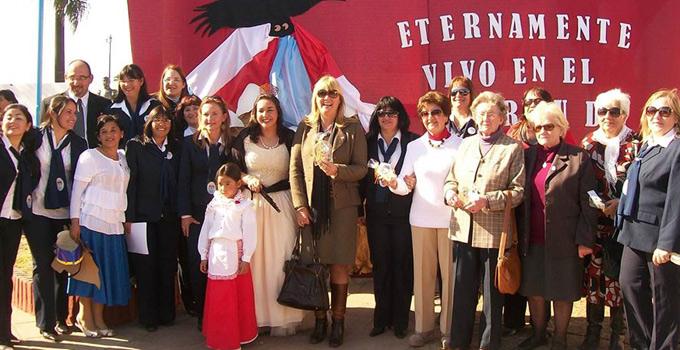 La Intendente Nancy Sand en el acto oficial en conmoración al Gral. San Martín