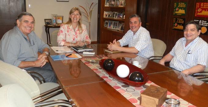 Nancy Sand recibió a Walter Chávez y Rubén Lomonaco