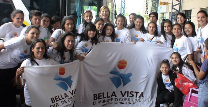 Partió la delegación de bellavistenses que representaran a Corrientes en el Torneo Evita