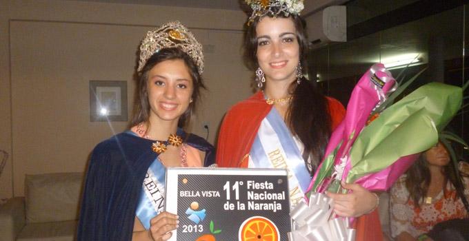 Dahiana llevó Bella Vista a la Fiesta Nacional de la Citricultura