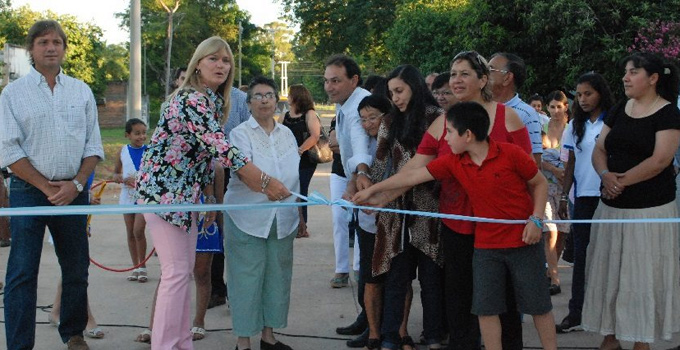 Nancy Sand inauguró finalización de obras sobre calle Belgrano
