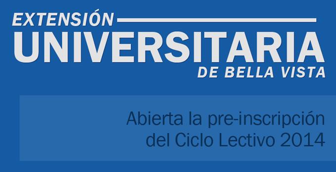 La Extensión Universitaria Bella Vista incorpora nuevas carreras para el 2014