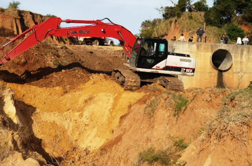 Obras públicas en sistemas de desagüe
