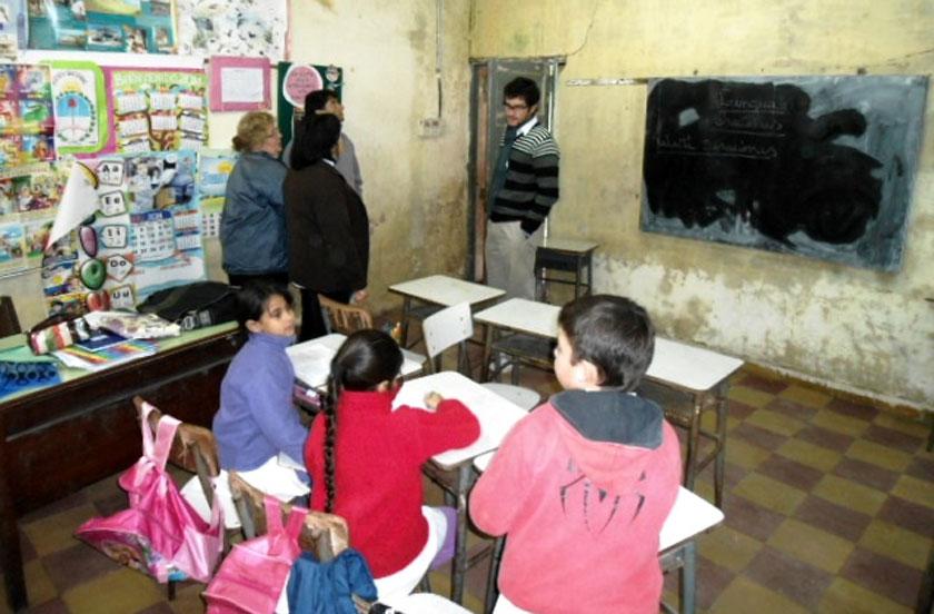 Obras municipales en la Escuela Nº 22 de Colonia Progreso