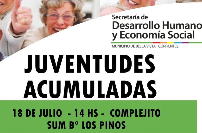Viernes 18 con actividades en Barrio Los Pinos