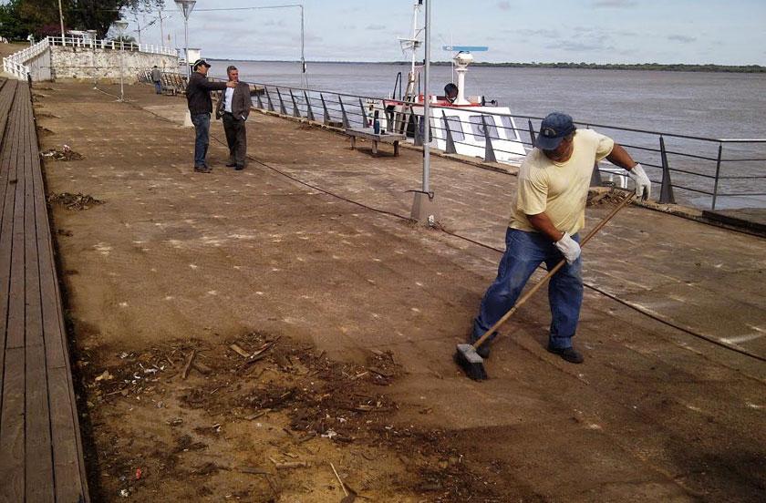 Obras en el paseo Costanera