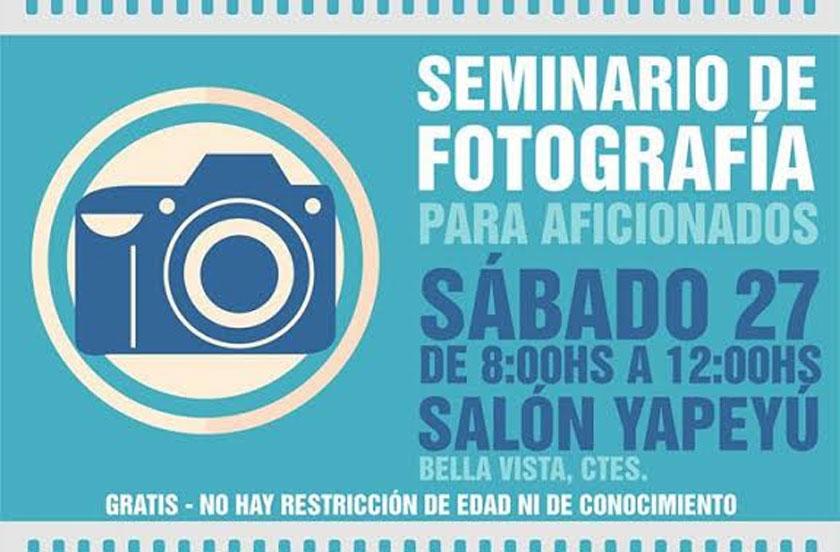 Invitan al Seminario de Fotografía para Aficionados
