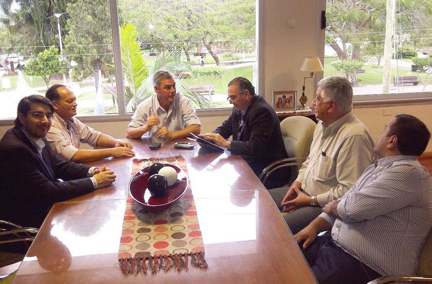 Chavez recibió al senador provincial Noel Breard