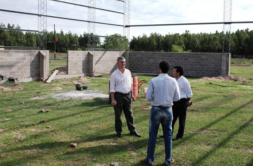 Chavez visitó las obras de la Planta de Residuos