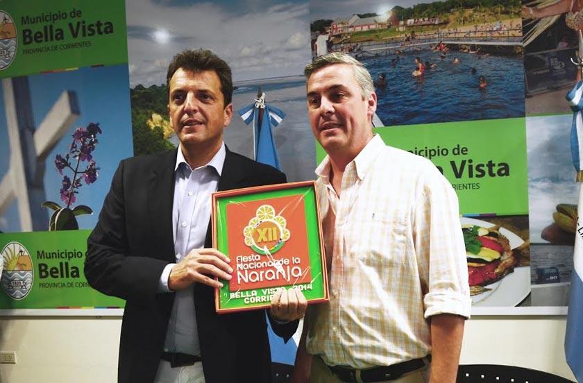 Chavez recibió al diputado nacional Sergio Massa