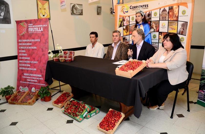 Presentaron en Corrientes la 1º Fiesta Departamental de la Frutilla