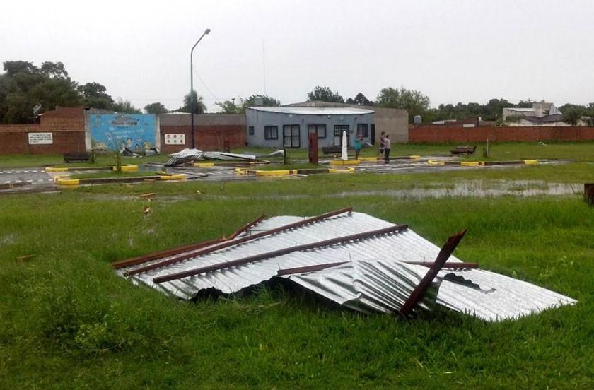 Bella Vista azotada por temporal el 1 de enero