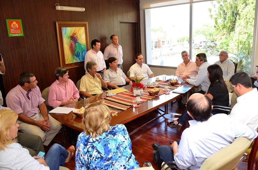 Autoridades nacionales en Bella Vista por la emergencia agropecuaria