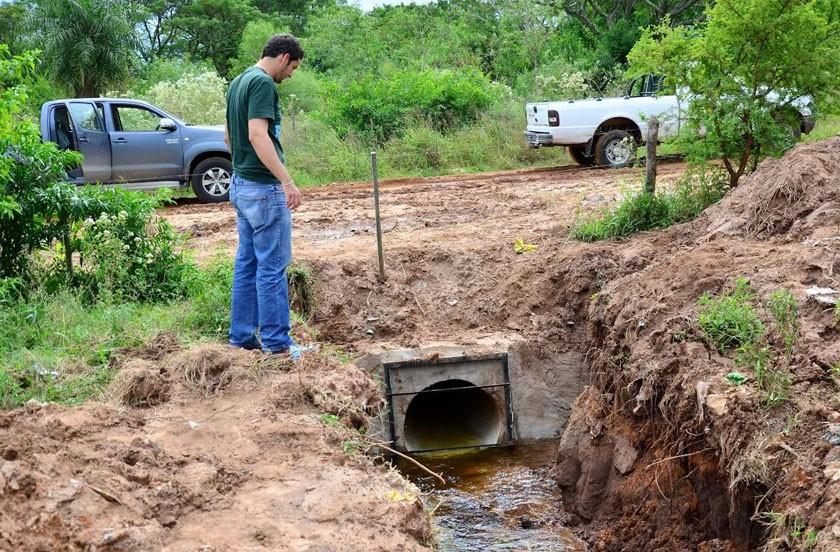 El municipio con obras en el sistema de desagüe sur