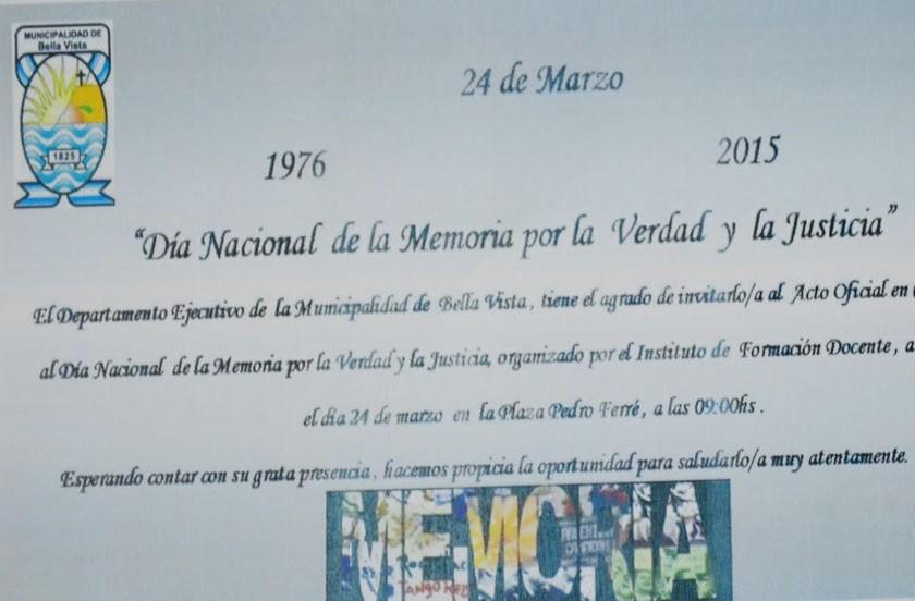 Programa Día Nacional de la Memoria, Verdad y Justicia