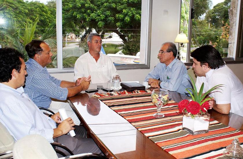 Chavez recibió a su par saladeño Omar Herrero
