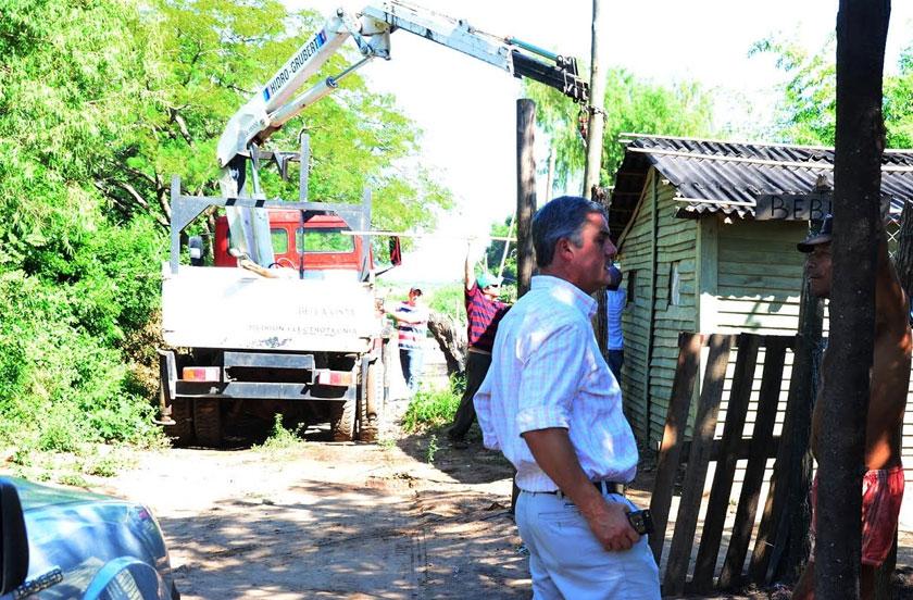 El municipio detalló obras de iluminación pública