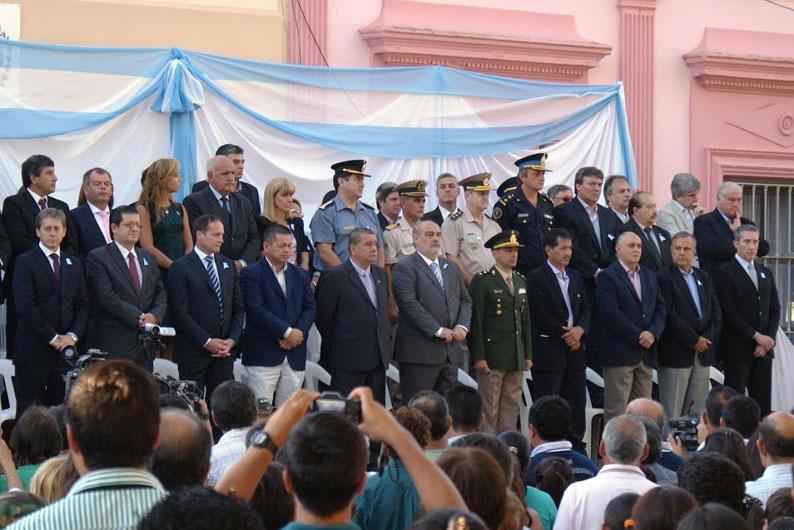 El intendente Chavez en Acto Central del 2 de Abril