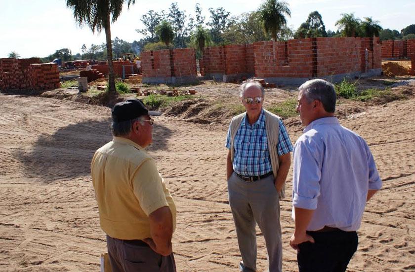 El intendente de Bella Vista recorrió obras en zona sur
