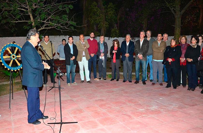 Chavez inauguró la plaza Centenario del Rotary Club