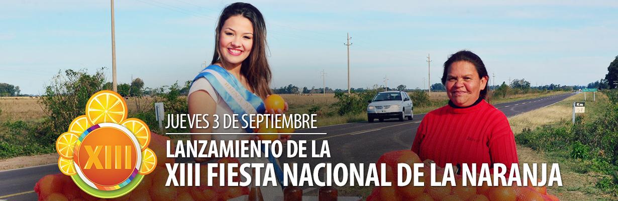 Lanzamiento Oficial de la XIII Fiesta Nacional de la Naranja