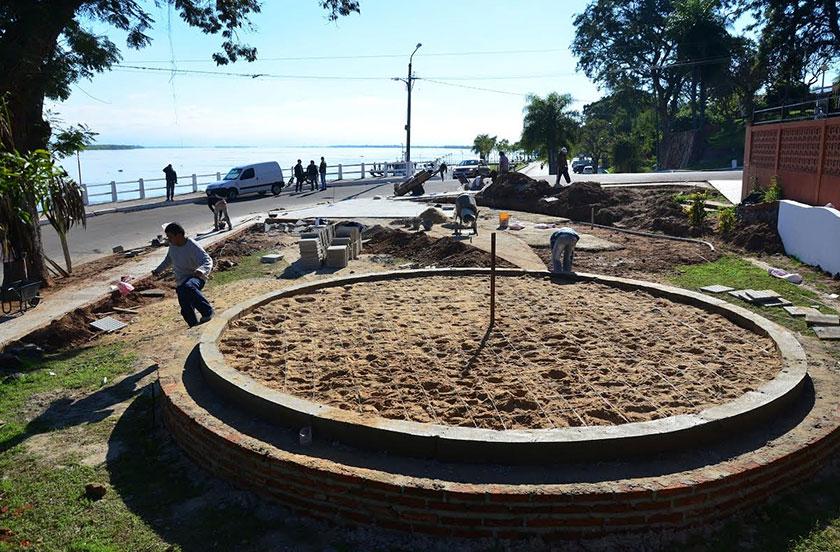 Obras de remodelación en Plazoleta de los Chamameceros