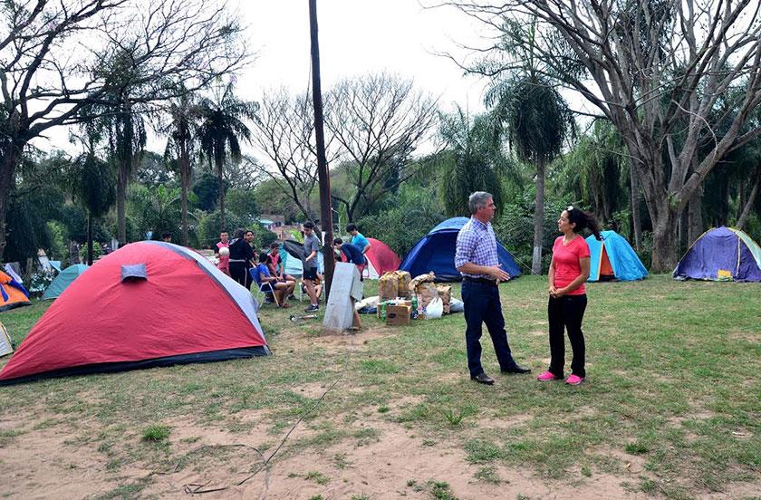 Escuela de Gob. Martínez acampa en Bella Vista