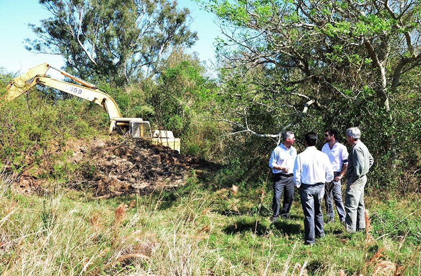 Bella Vista con obras de canalización en Lomas