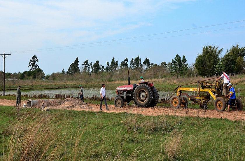 El intendente Chavez en recorrida por zonas rurales