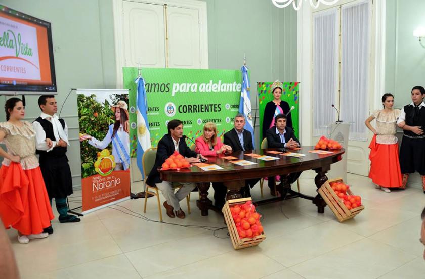 Presentaron en Corrientes la 13º Fiesta Nacional de la Naranja
