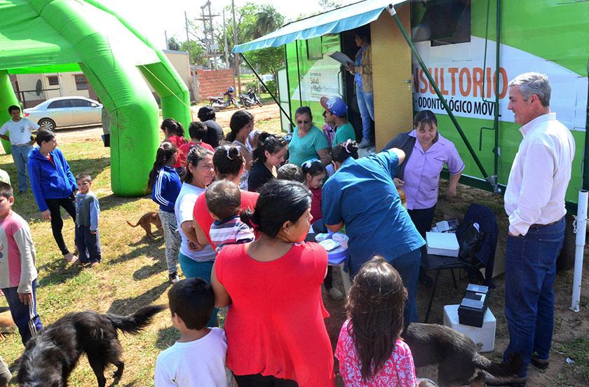 Chavez con actividades en el barrio sur