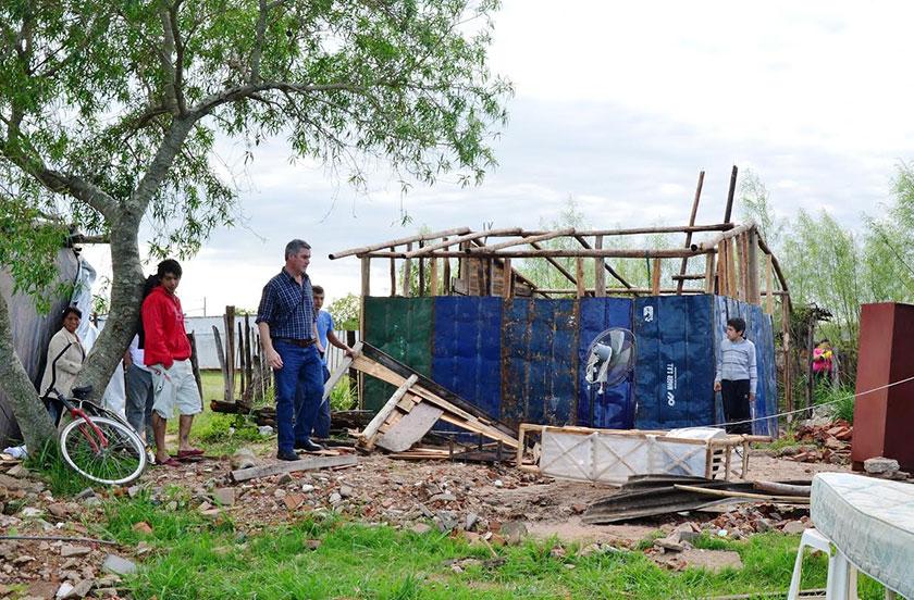 Tormenta afectó seriamente algunos barrios de Bella Vista