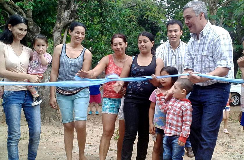 Chavez entregó cuatro nuevas casas en Barrio Norte