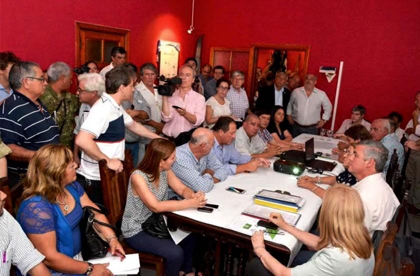 Chavez en reunión de Comité de Crisis en Goya