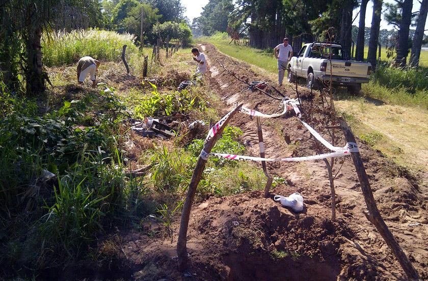 Obras de ampliación de red de agua en Bº Fruticor