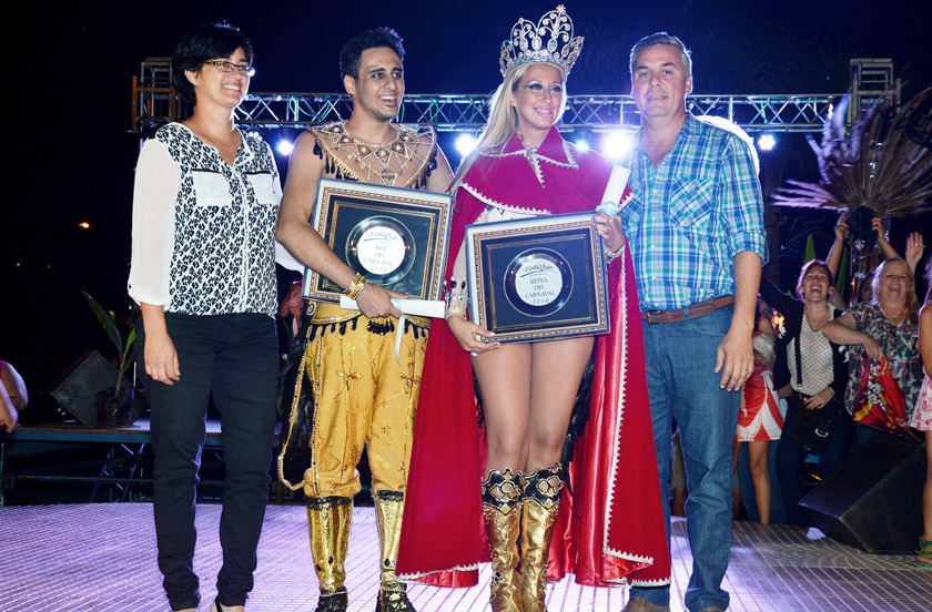 Abril y Aquiles los nuevos reyes del Carnaval de Bella Vista