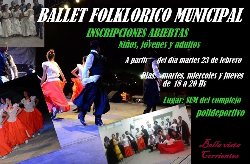 El Ballet Folklórico abrió su inscripción 2016