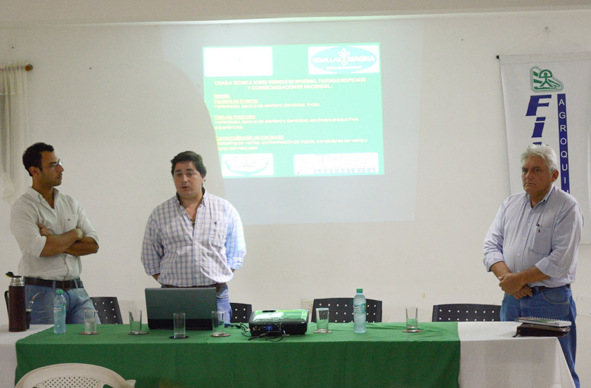 Destacan charla de incentivo para producción de pasturas