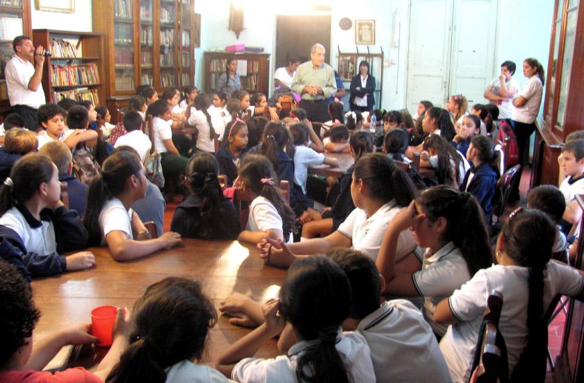 La Biblioteca Sarmiento con visitas de Buenos Aires