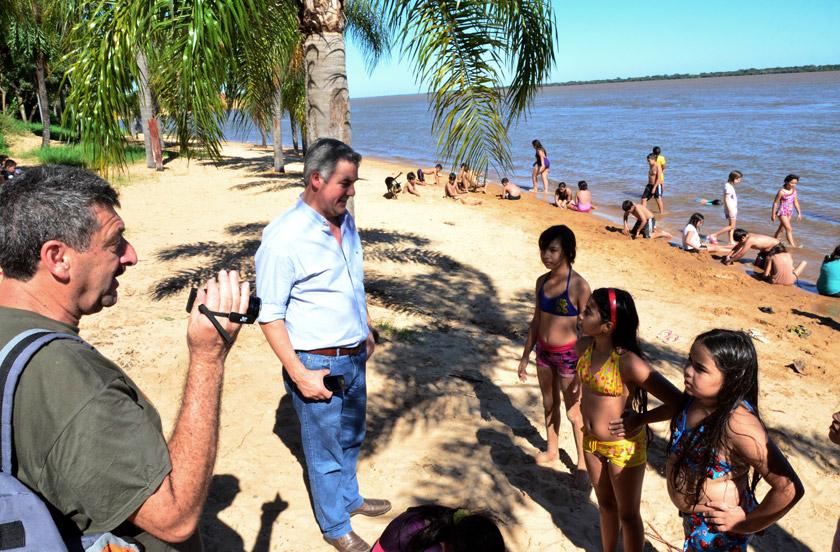 Chavez agradeció la visita del San Agustín