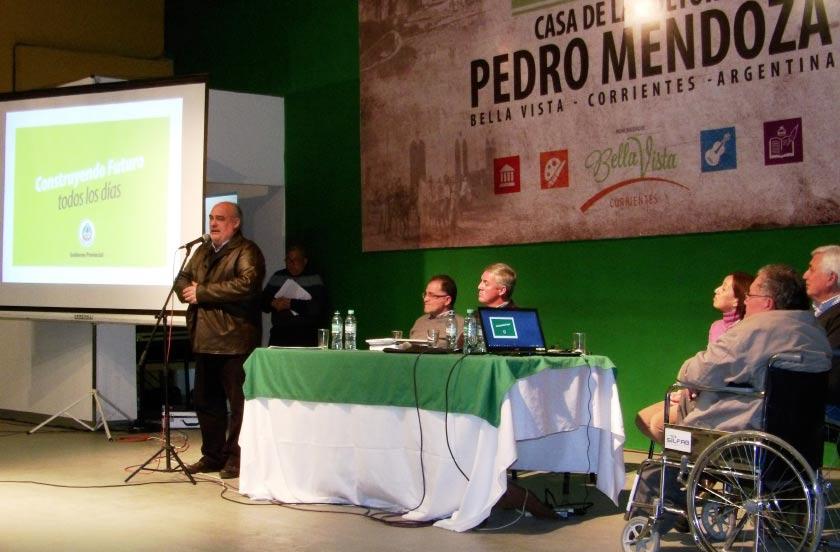 Chavez y Colombi anunciaron las obras de desagüe para Bella Vista