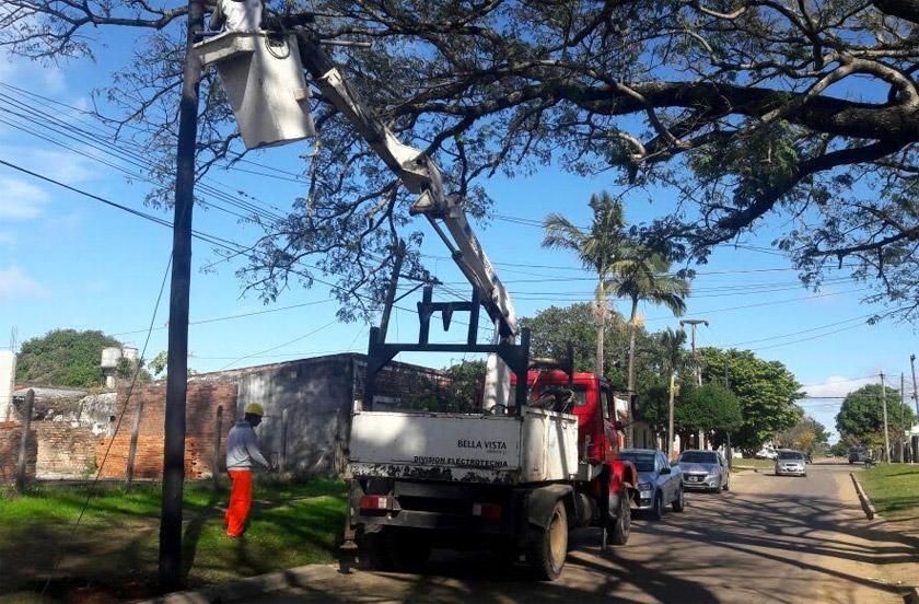 El municipio destacó los avances en la iluminación pública