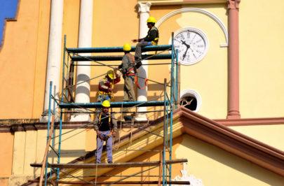Avanzan refacciones en la parroquia Nuestra Señora del Carmen